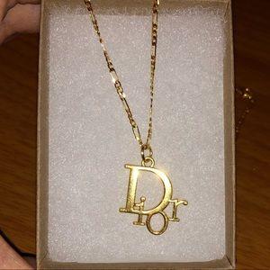 Dior Pendant in 24k Gold Chain
